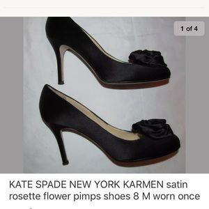 KATE SPADE  KARMEN satin rosette pumps shoes 8